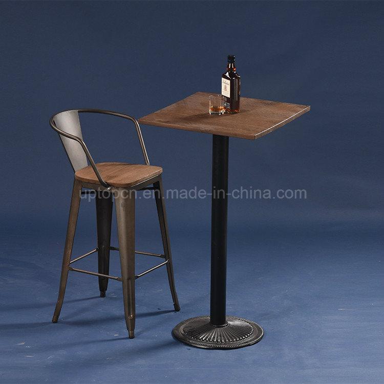 Vintage Style Industrial Metal Bistro Bar Table (SP-BT702)