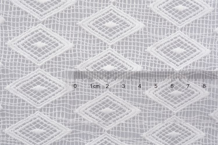 Eco friendly white lace fabric