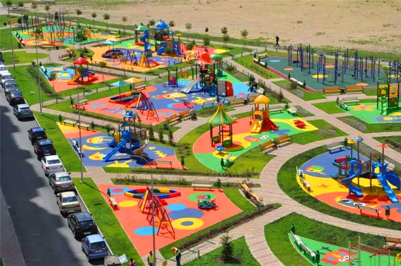 New Outdoor Playground for Children to Play Games in China