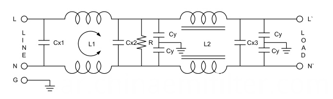 Single Phase Power Line Househould Appliance Filters