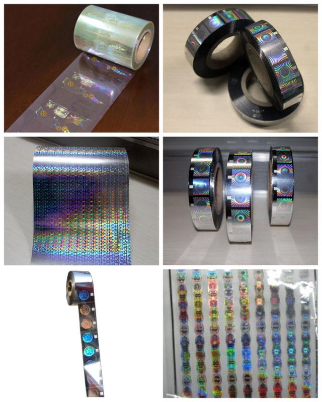 Custom Anti-Fake 2D 3D Hologram Hot Foil Stamping