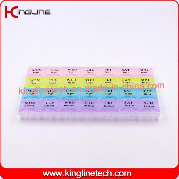 new design Nice Plastic Medicine Box with 28-Cases (KL-92802F)