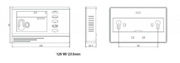 Wireless Intelligent Temperature Control Panel Type Lcw9200bwz China Supply