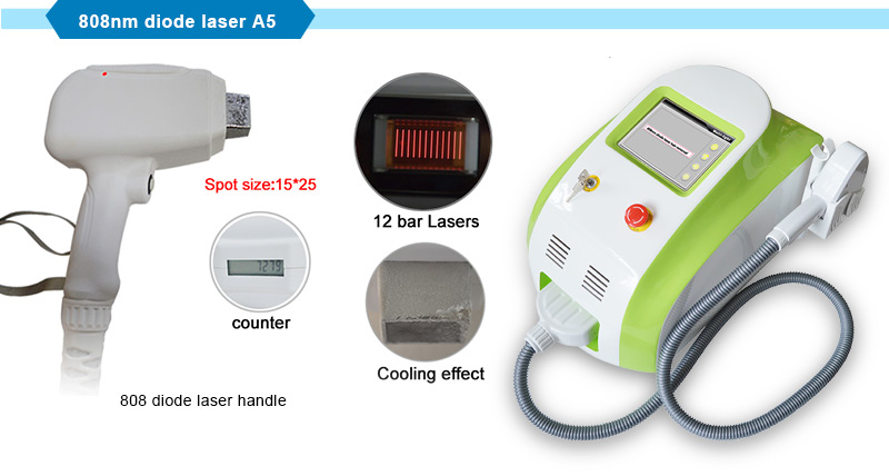 Portable Beauty Equipment 808 Diode Laser Popular Hair Removal/Depilation