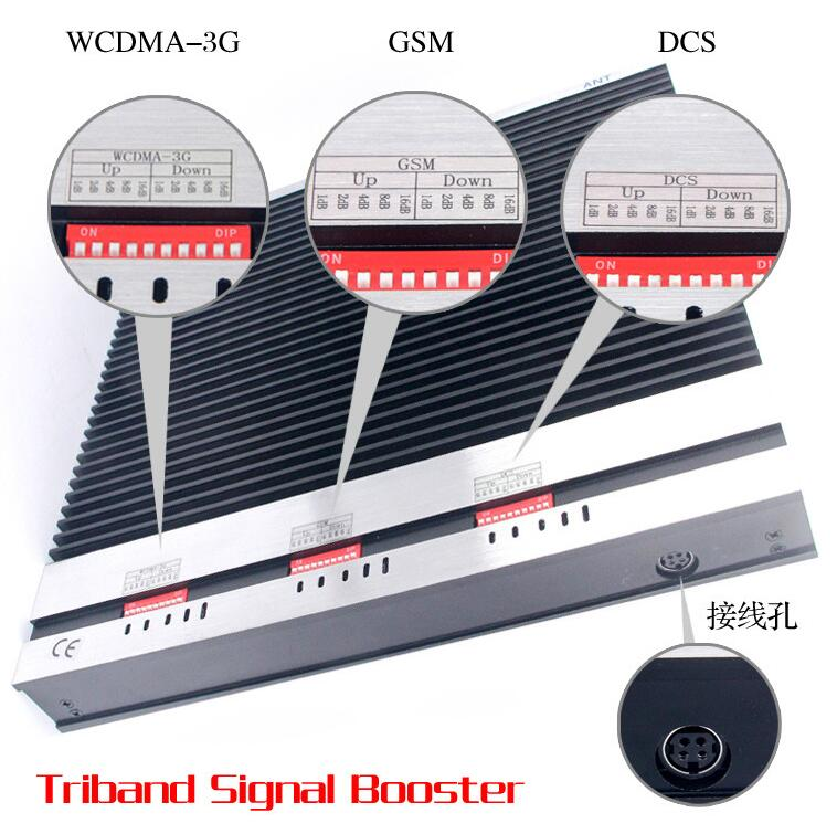 Tri Band Repeater for 2g 3G 4G GSM, Dcs 4G Lte 900/1800/2100MHz