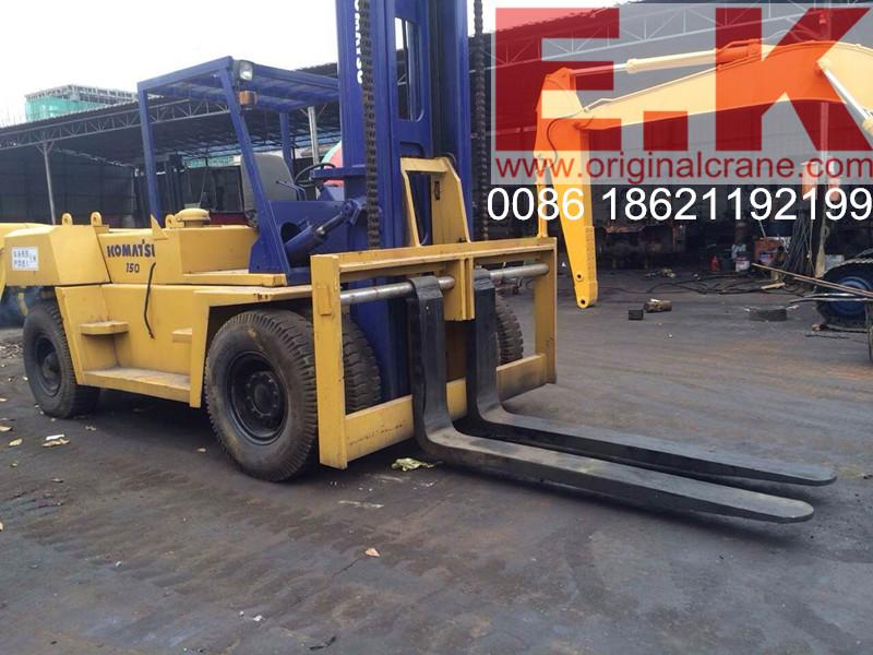Used Japan Forklifttruck 15ton Komatsu Forklift (FD150-7)