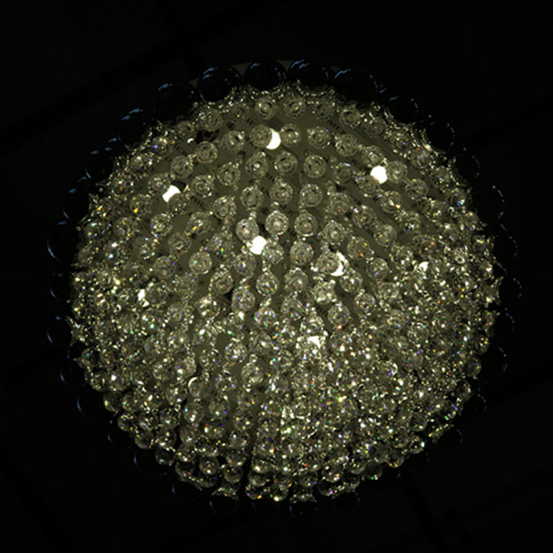 European Hotel Lobby Decorative Clear Crystal Round Chandelier