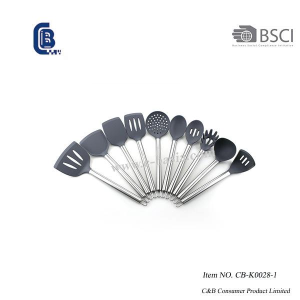 11 peças de utensílios de cozinha de silicone, utensílios de cozinha de silicone para panelas antiaderentes