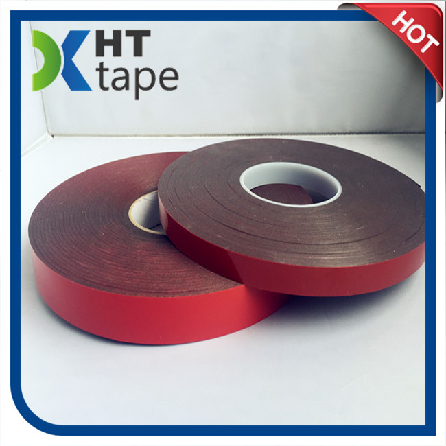 Red Liner Black Color Double Sided Foam Tape
