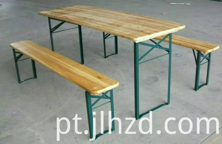folding wooden beer table and bench