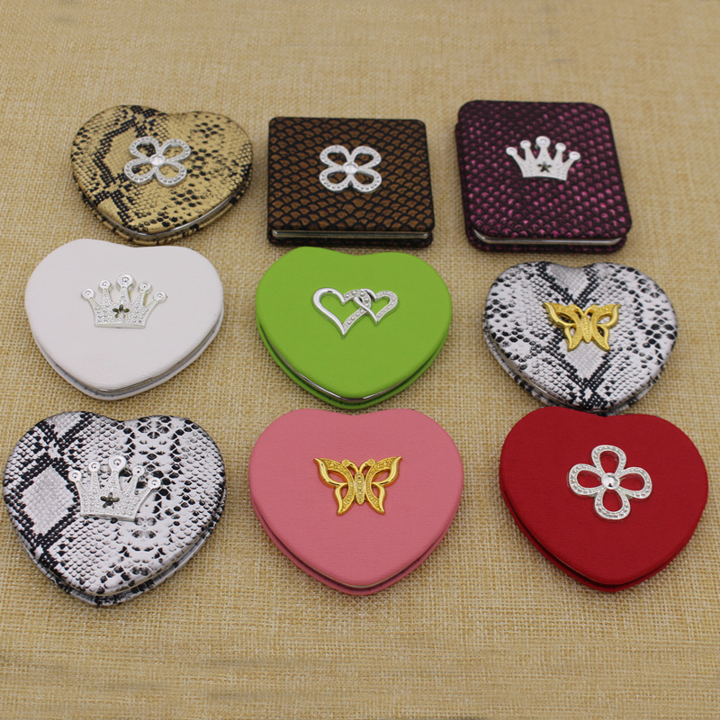 Cheapest Metal Aluminium Round Makeup/Compact/Cosmetic/Pocket Mirror with Custom Logo