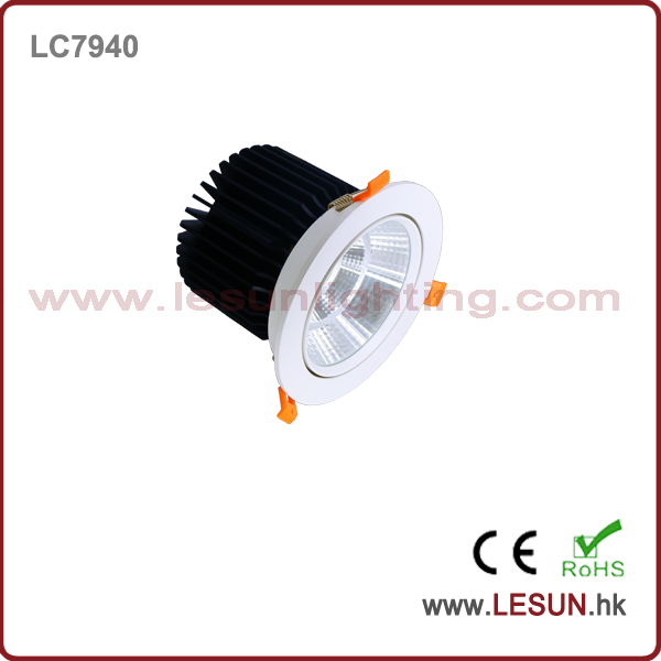 Ce & RoHS Approved New Product COB 40W Downlight with White Color LC7940