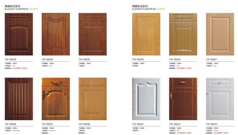 European Style Classic Water Proof PVC Vacumn Kitchen Furnitures Cupboard (MOQ one set)