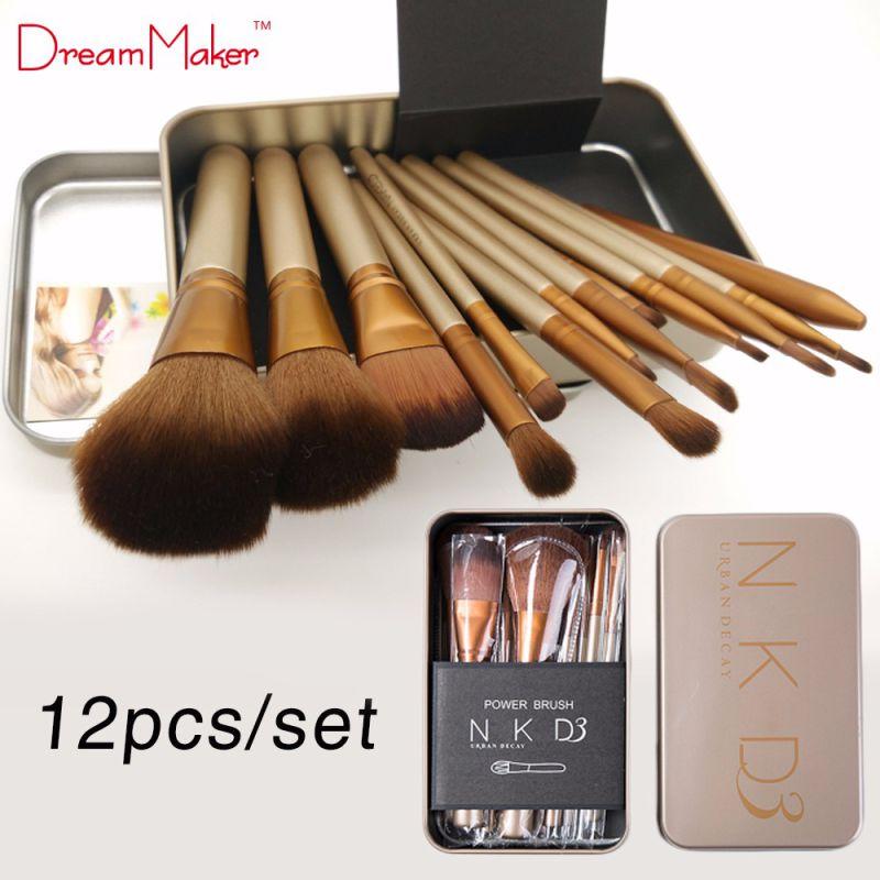 12PCS Gold Professional Naked3 Makeup Brush Kit with Wholesale Price