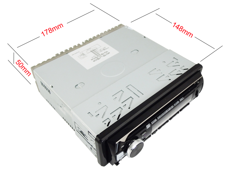 One DIN Detached Panel Car DVD Player Ts-6024D