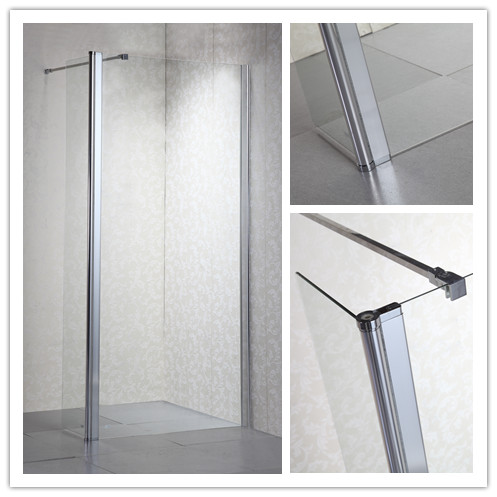 Simple Design Bath Shower Screen with Supporting Bar (LT-9-3590-C)