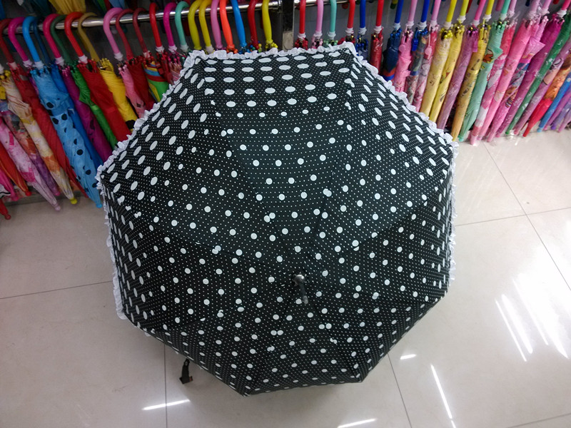 Black Printing Straight Umbrella (JYSU-19)