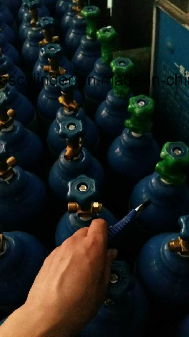 99.999% Helium Gas Filled in 5L Cylinder, Qf-2 Valve
