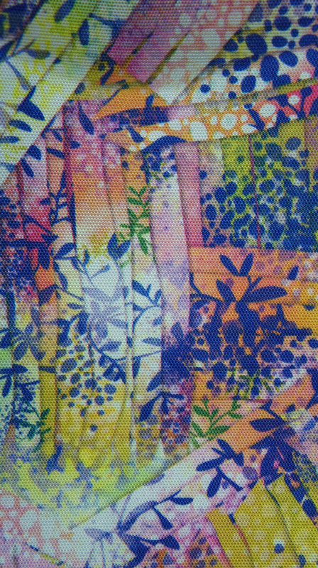 900d Printed Polyester Fabric with PU Coating