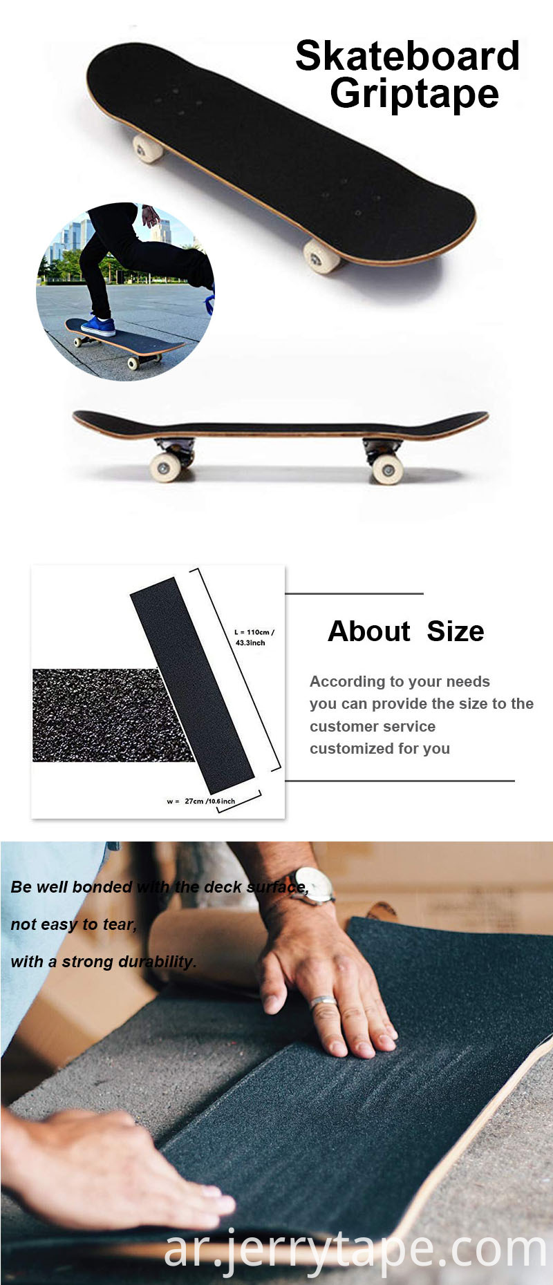 Factory Custom Skateboard Grip Tape