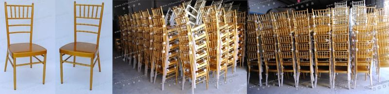 Chinese Stackable Tiffany Wedding Furniture for Hotel and Banquet Room (YC-A21)