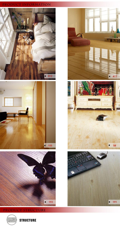 8.3mm E1 AC3 Walnut Vinyl Maple Laminate Wooden Laminated Wood Flooring