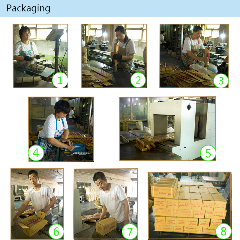 welding electrodes packing