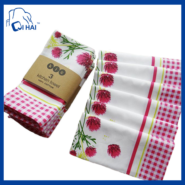 Pure Cotton Printed Kitchen Towel (QHDA8769)