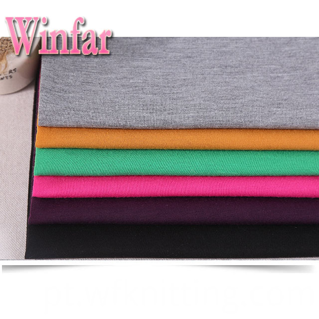 Solid Color polyester spandex knit fabric