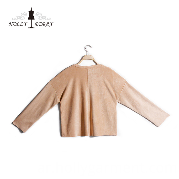 suede long sleeve
