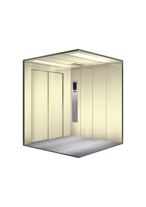 Geared Side Opening Door Goods Elevator with Lift Machine Room