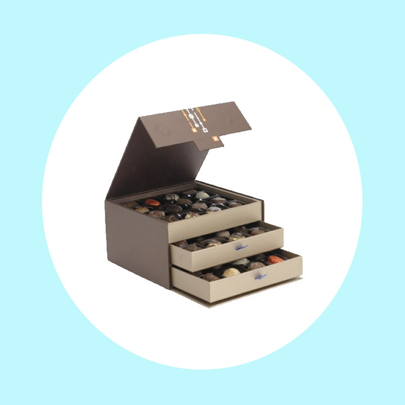 Luxury Two Layers Neat Handcraft Chocolate Gift Paper Box