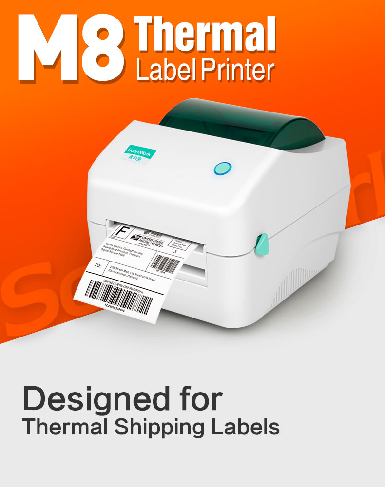 M8 shipping label printer