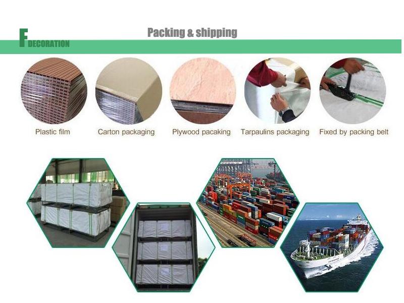 Waterproof Wood Grain WPC House Wallboard Panel