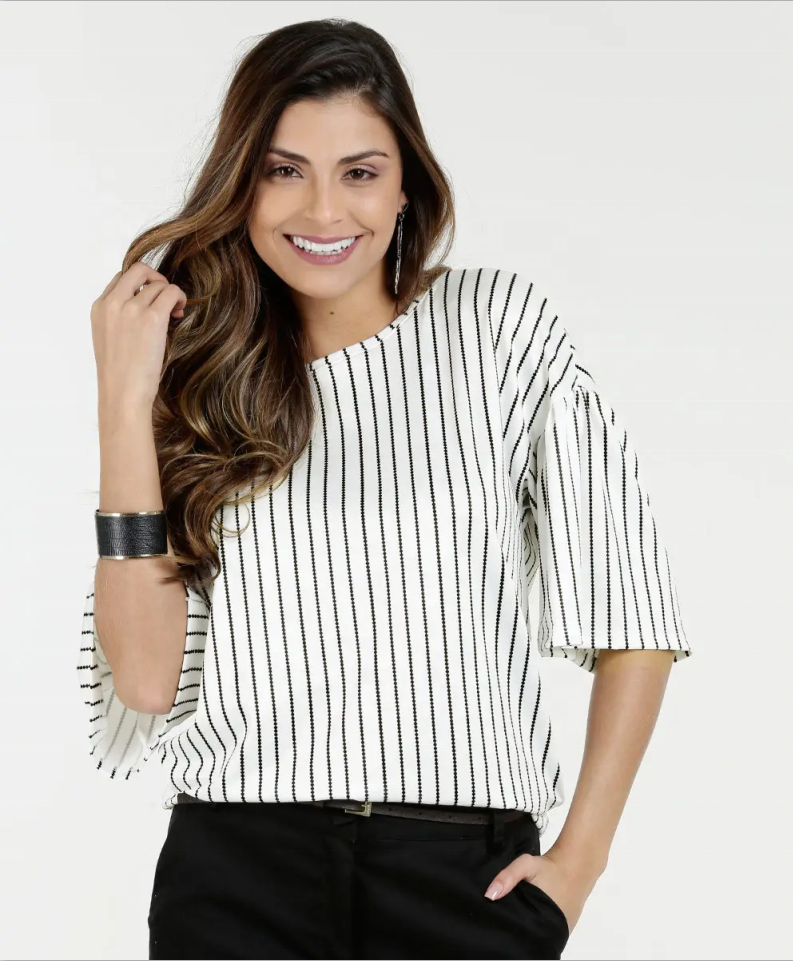 Causal Striped Blouse for women