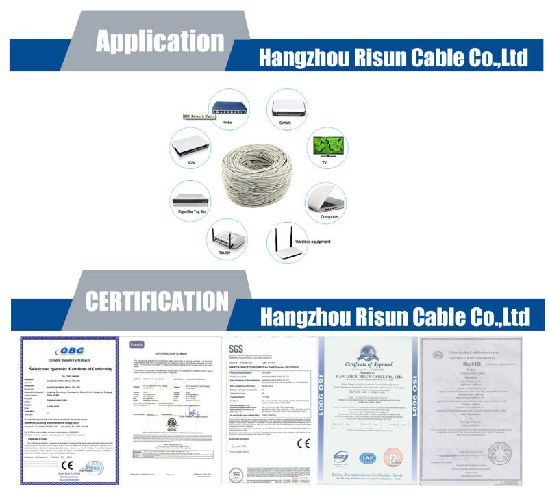 High Quality Twisted Pair Network FTP CAT6 Cable with Frpvc Sheath