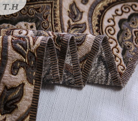 2017 The Latest Jacquard Fabric with Chenille Yarn Weaven