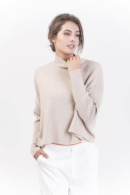 Women's Fashion Pure Color Cashmere Pullover