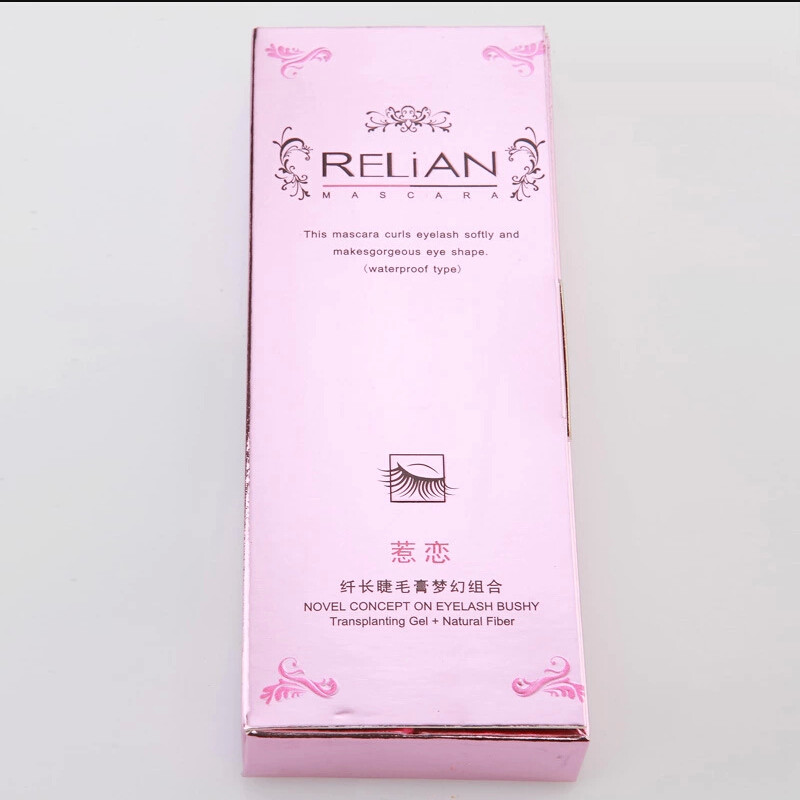 Wholesale Price Relian Double Mascara Pink Package 1set = 2PCS (Transplanting Gel+Natural Fiber)