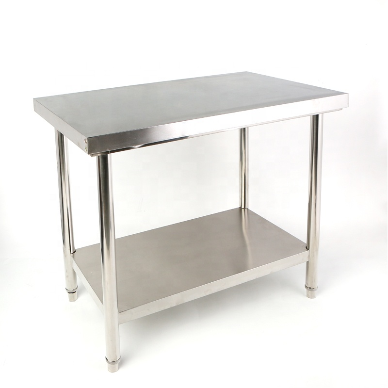 Customized 304 Commercial Kitchen Stainless Steel Work Table