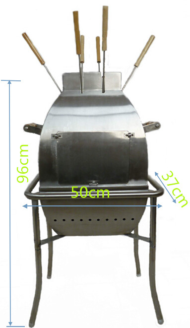 Big Stainless Steel Charcoal BBQ Grill (Outside Use)