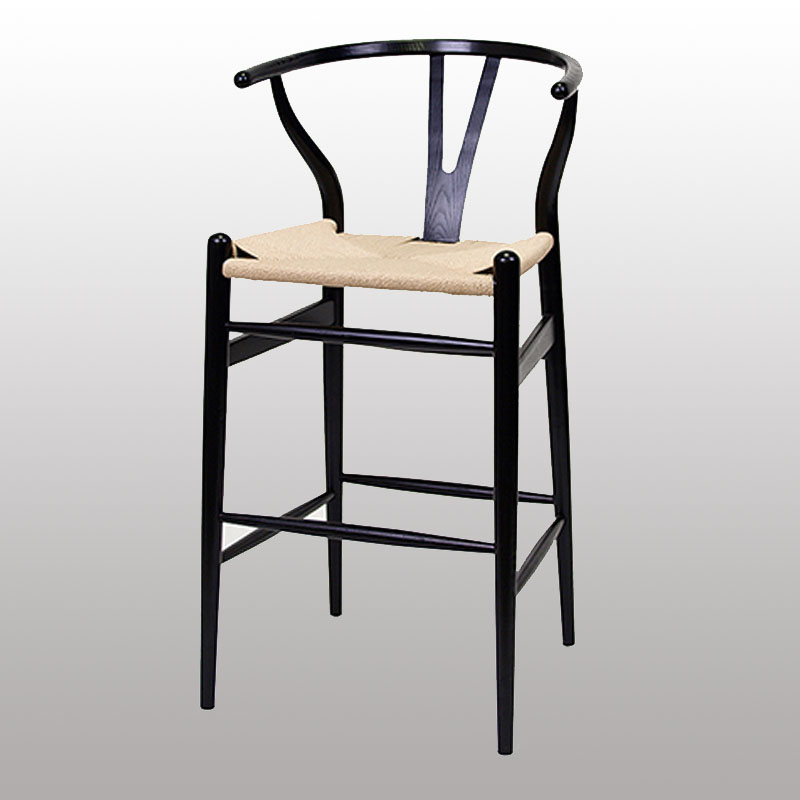 Popular Wood Bar Use Y Chair with Solid Wooden Leg