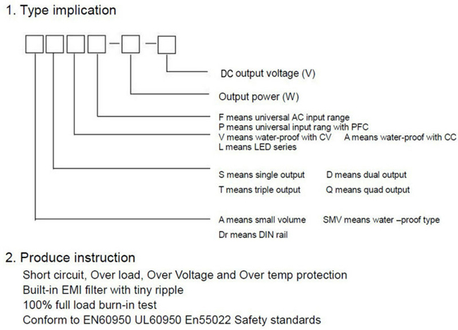S-350-5 5VDC 50A Output Switch Power Supply for LED
