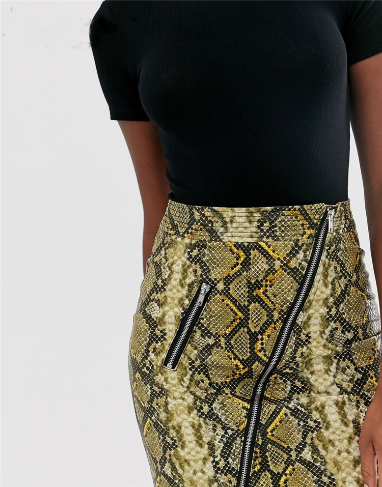 Vintage Women PU skirt