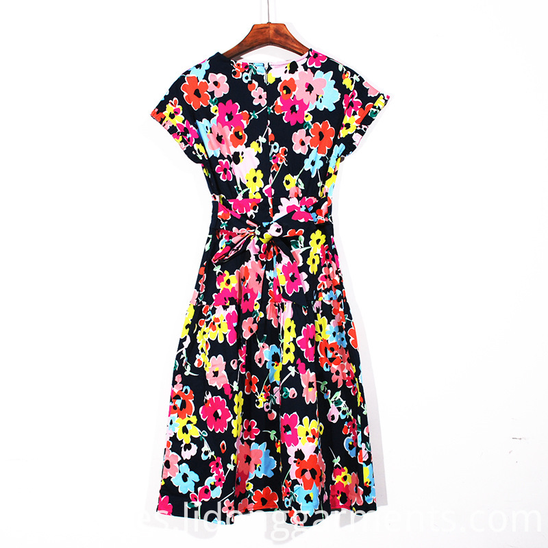Ladies Printing Casual Dress