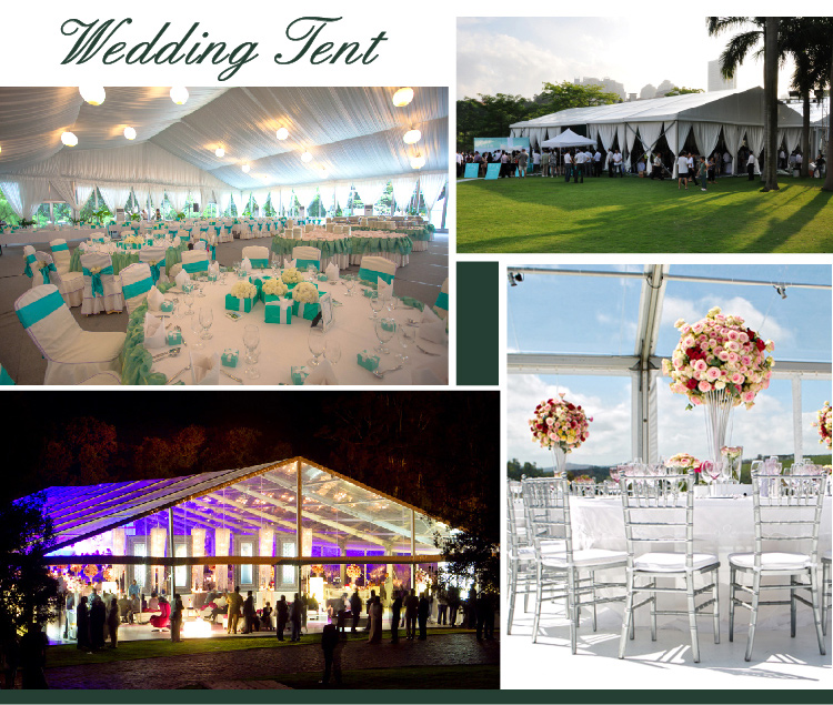 500 People 15X40m Outdoor Wedding Tents with Luxury Decorations