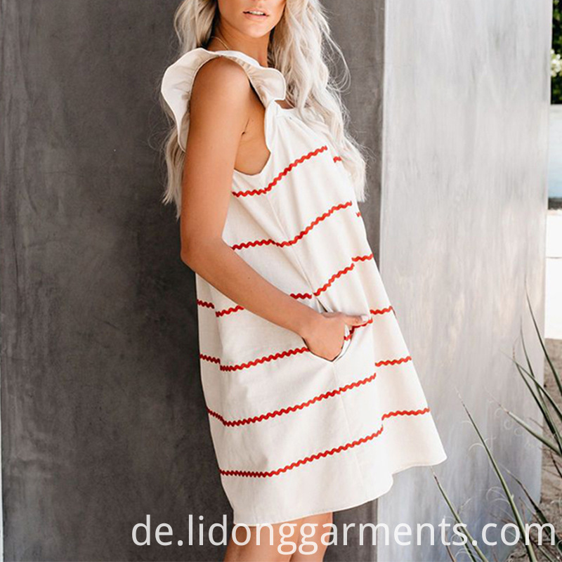 Cute Design Red Stripe Dress