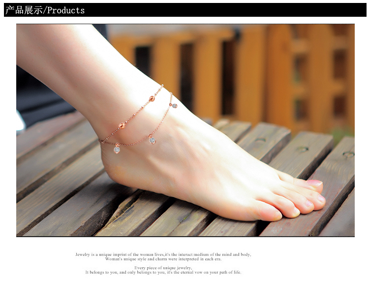 Fashion Jewelry Anklet, Stainless Steel Jewelry Gold Diamond Anklet (hdx1138)
