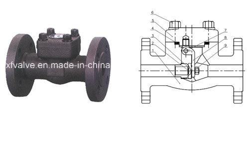 API602 1500lb 2500lb Forged Steel Flange End Piston Check Valve