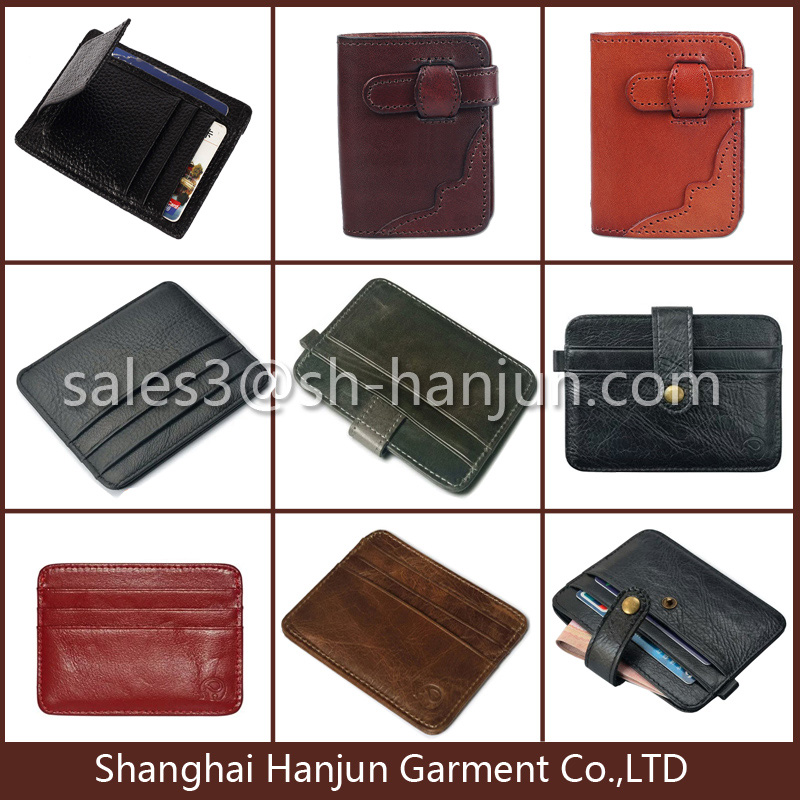 Factory Price and Fashion Leather Visiting Card Holder